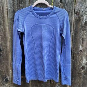 Lululemon Swiftly Tech Long Sleeve Tee Shirt Blue